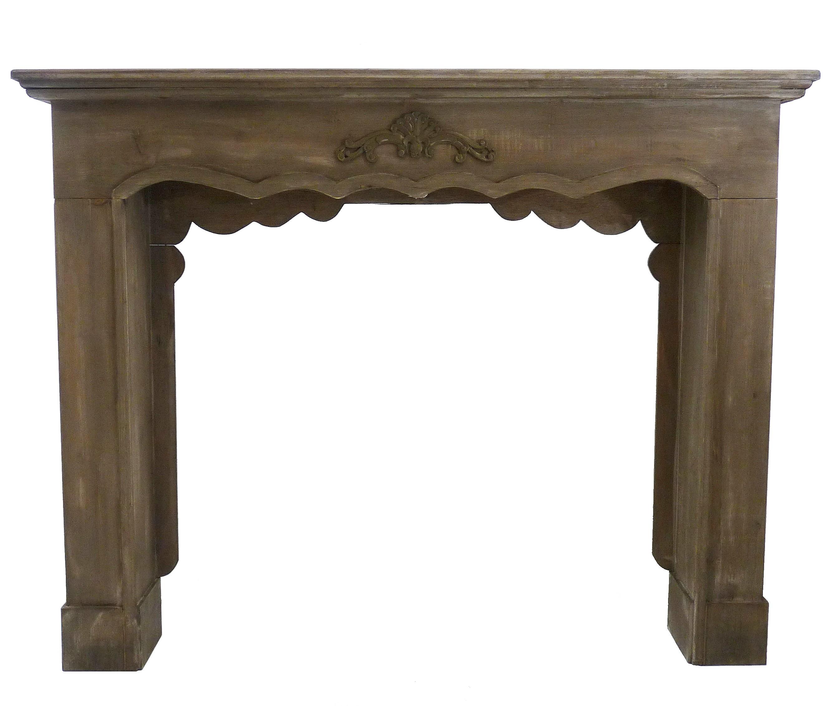 Entourage décor manteau de cheminée façade encadrement en bois ...