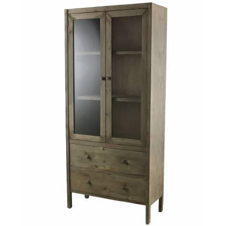 Meuble de rangement armoire vitrine vaisselier for L or du temps meuble