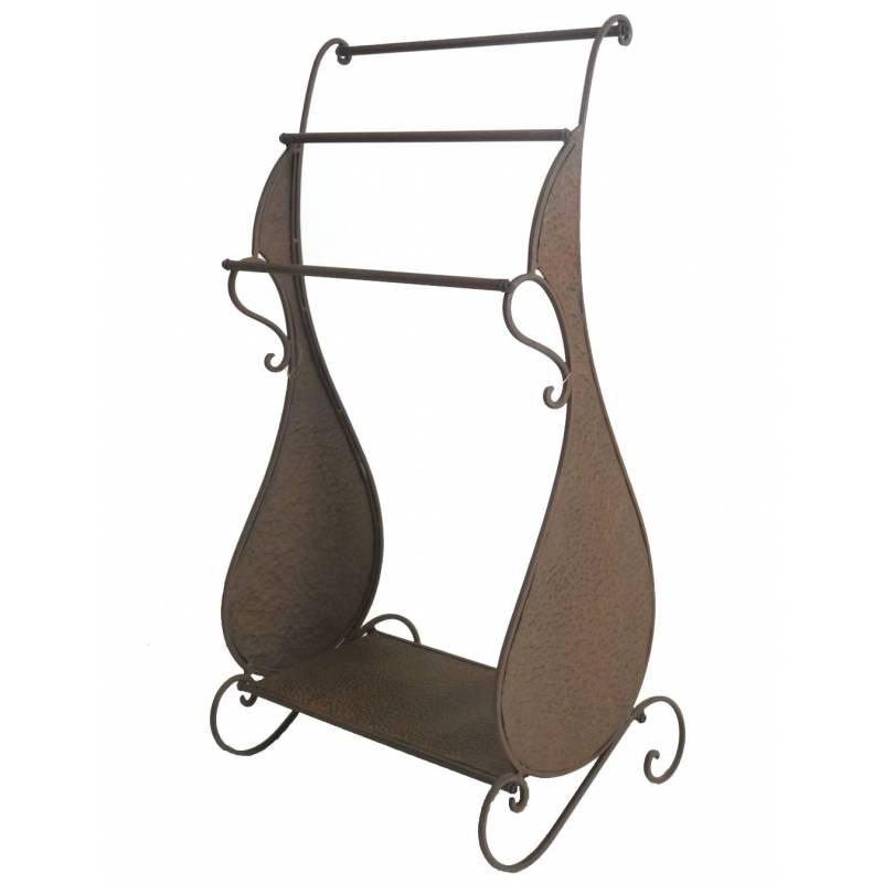 Meuble tag re portant de salle de bain etendoir porte for Meuble porte en fer