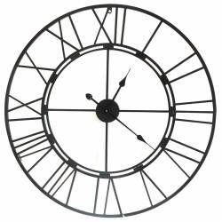 Grande Horloge en Fer Style Loft Pendule Murale Acier Ø 105cm