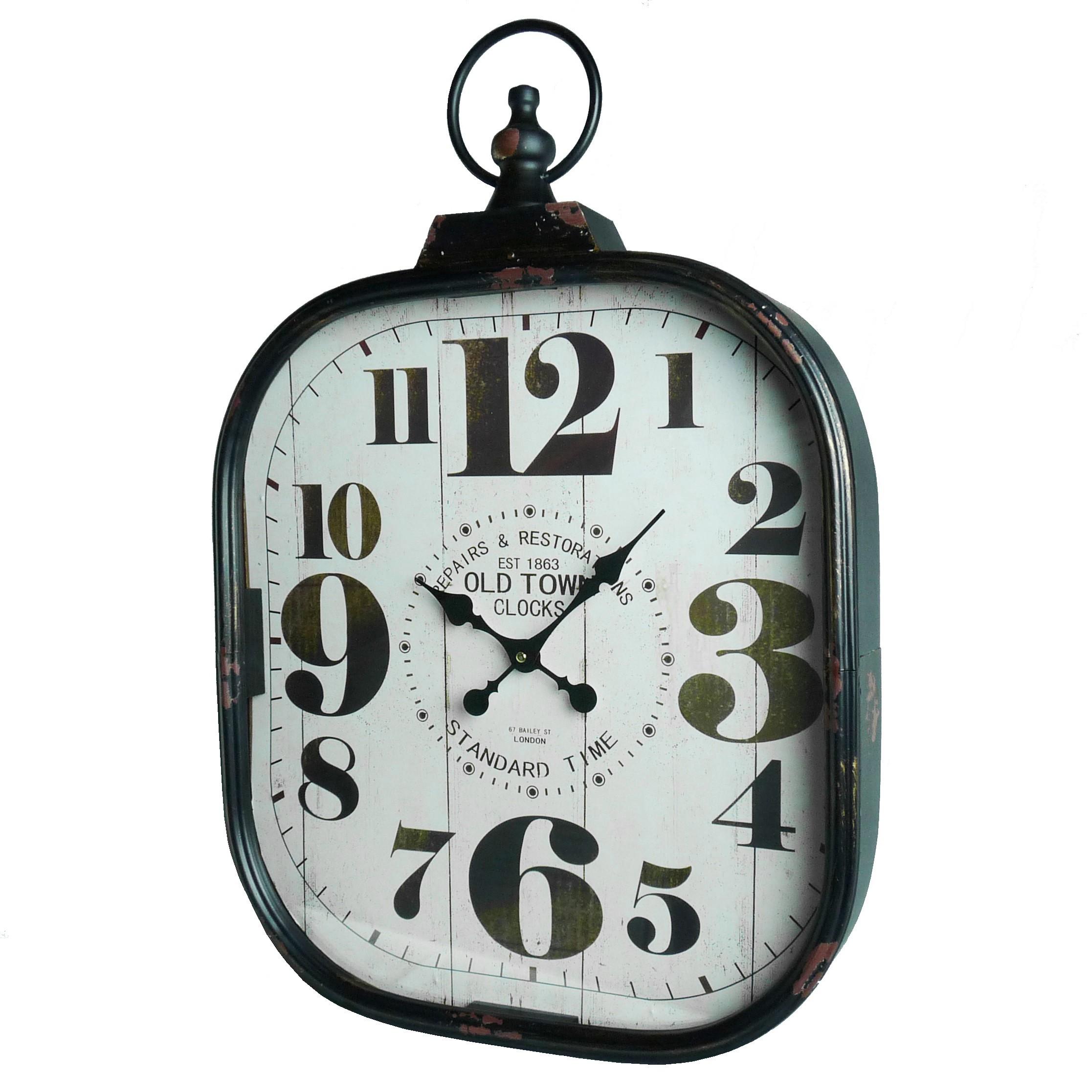 Horloge murale style industriel best mobili rebecca for Horloge murale style industriel