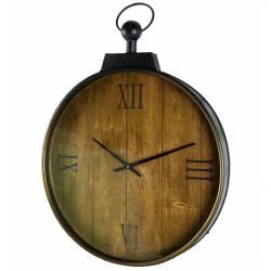 Grande Horloge Murale Style Montre a Gousset 66cm