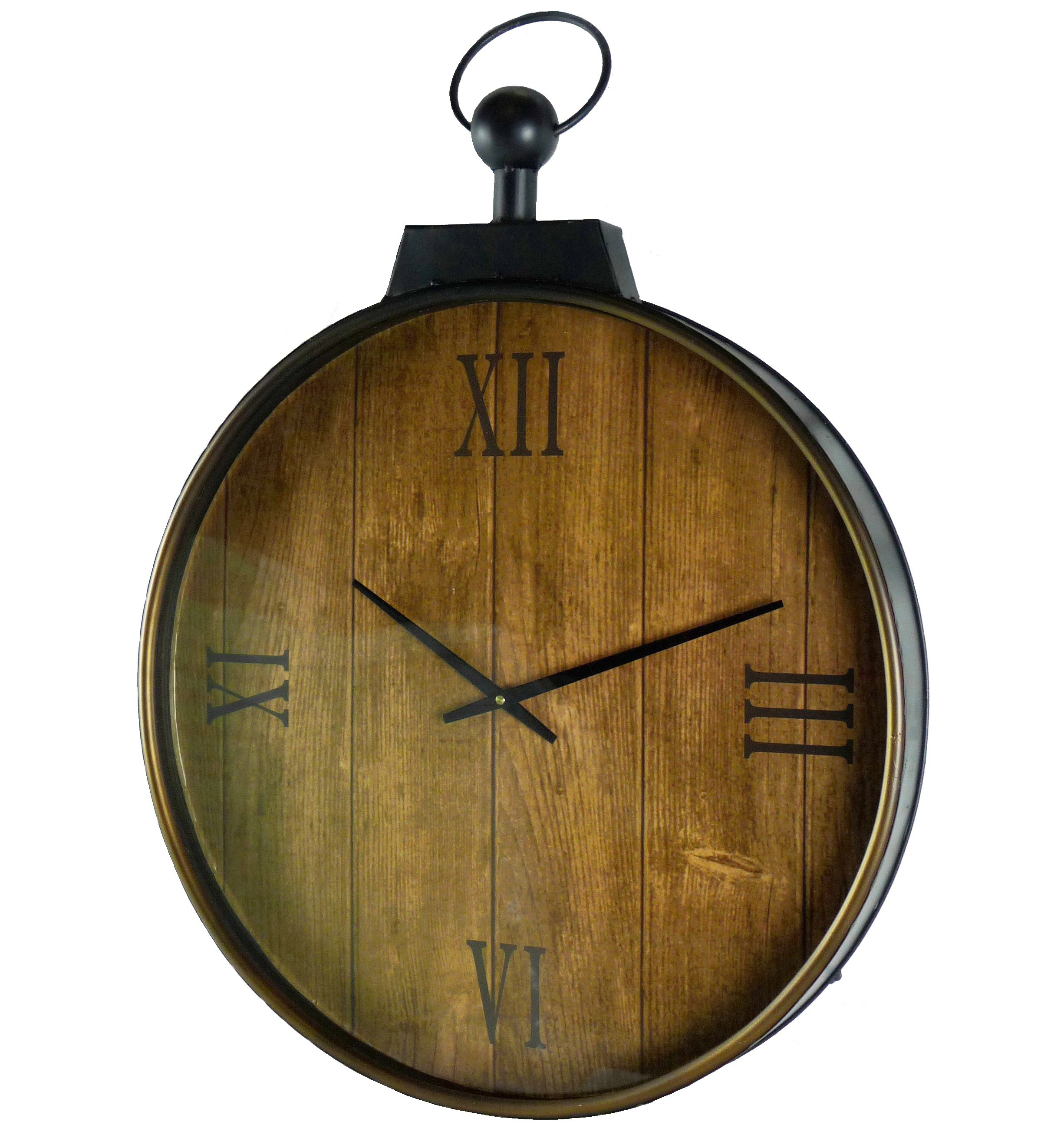 Grande Horloge Murale Style Ancienne Montre a Gousset Pendule en ...
