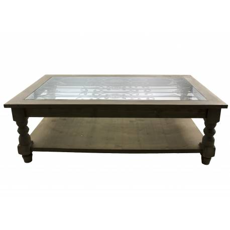 Grande table basse console de salon bout de canap for Grande table basse rectangulaire