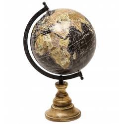 Mappemonde Globe Terrestre Décoratif Rotatif sur Pied 36cm