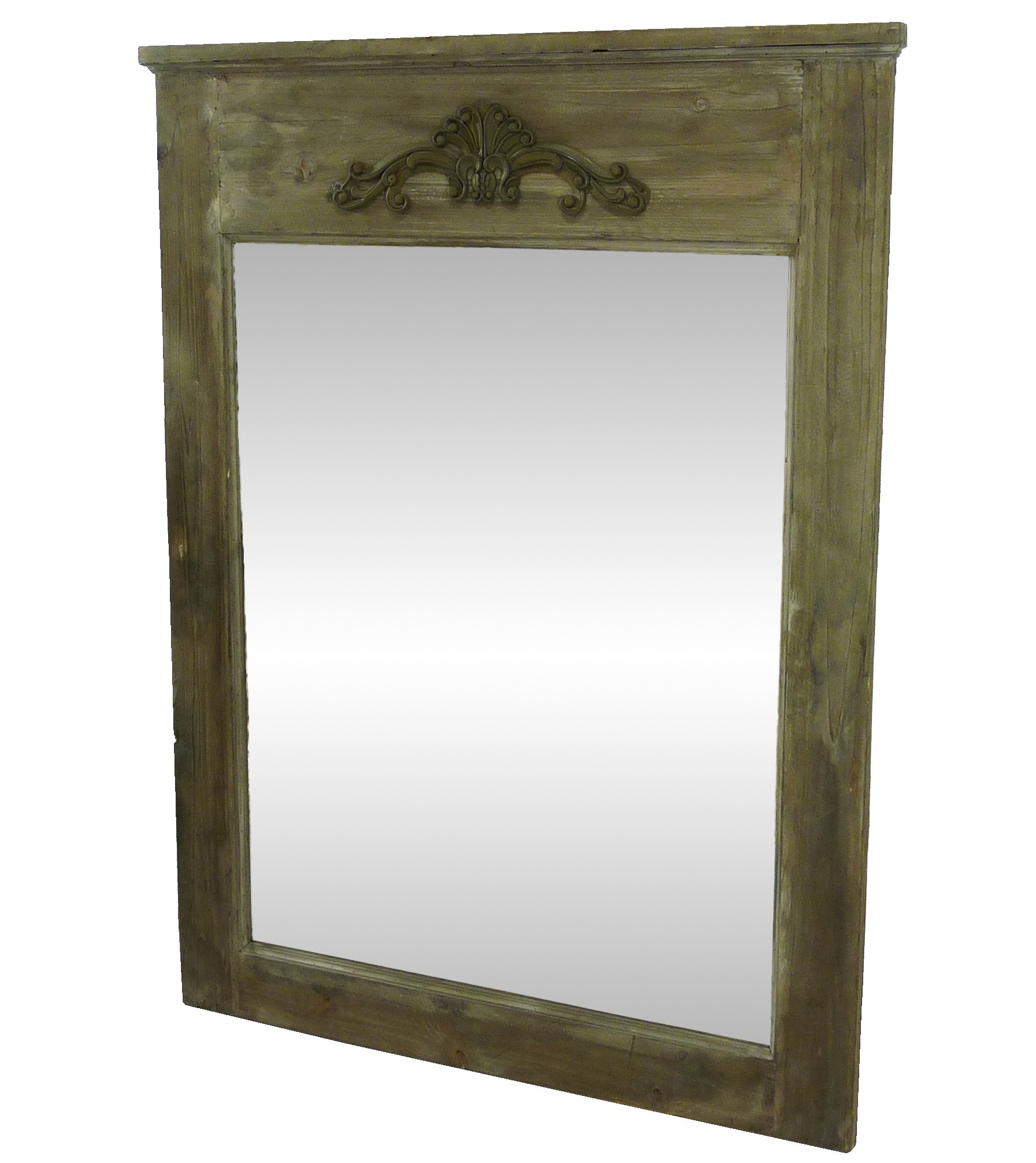 Miroir bois ancien fashion designs for Grand miroir rectangulaire bois