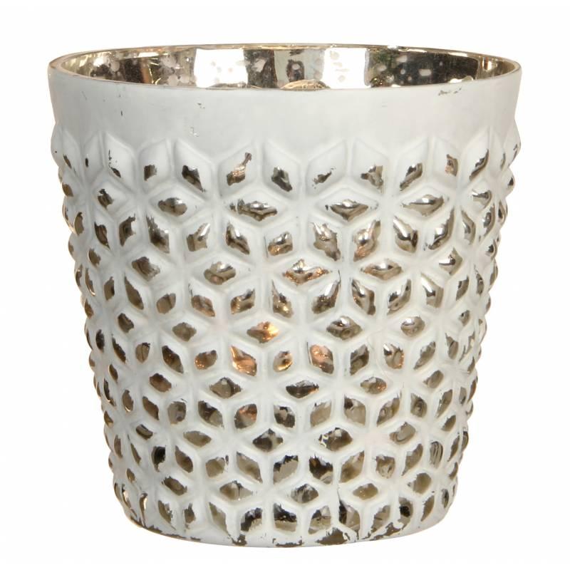 Photophore porte bougie bougeoir pot d coratif en verre - Porte bougie en verre ...