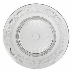Assiette Plate Plat de Présentation Vaisselle en Verre Transparent Ø29cm