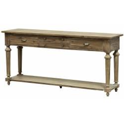 Table de Drapier Meuble d'Appoint Console de Rangement en Acacia De Kercoet 50x87x183cm