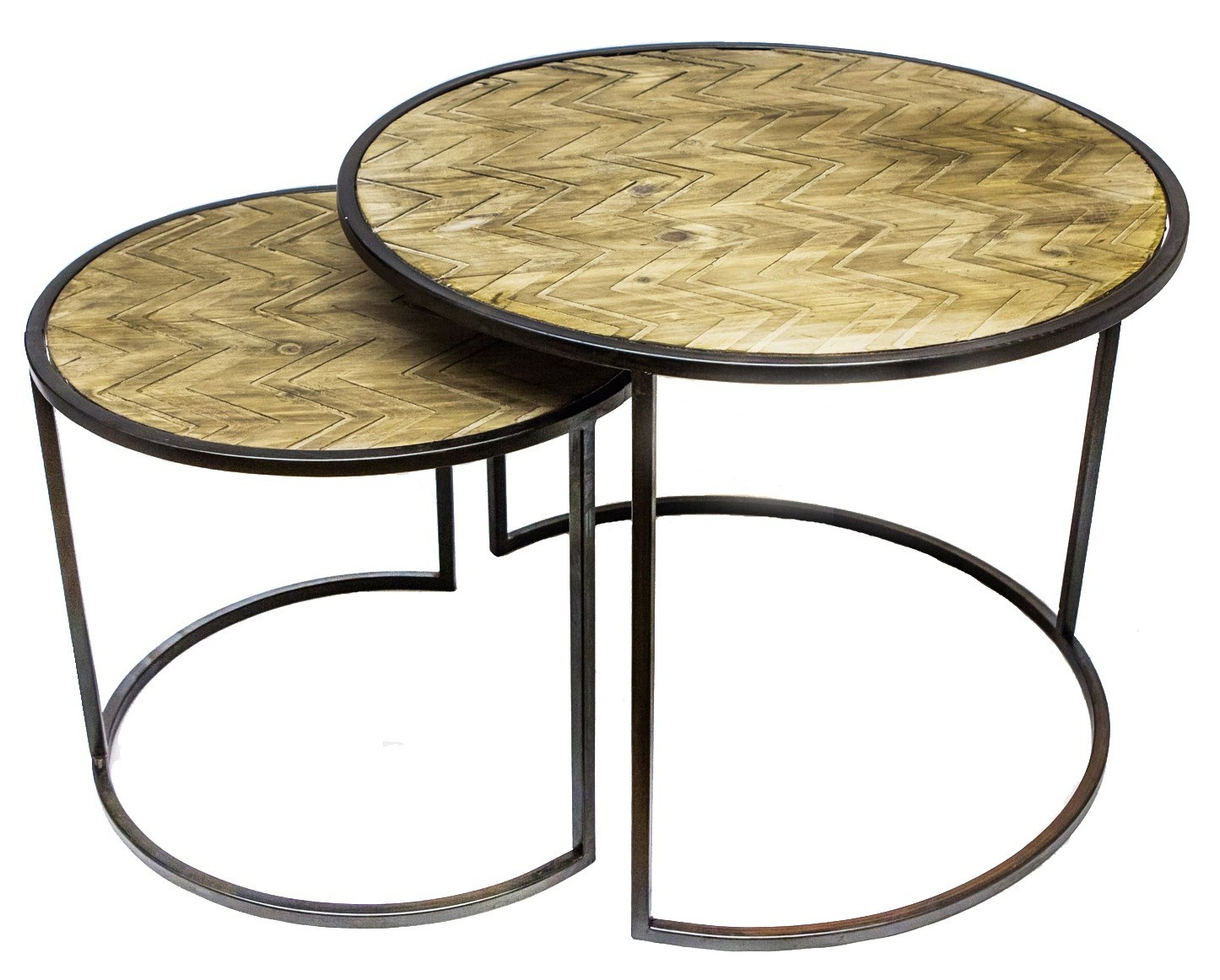 table gigogne ronde fabulous affordable dilma lot de tables gigognes style industriel placage. Black Bedroom Furniture Sets. Home Design Ideas