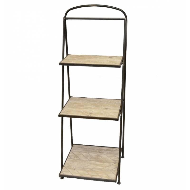 Etag re echelle meuble escalier escabeau biblioth que pr sentoir en acier ver - Echelle bibliotheque bois ...