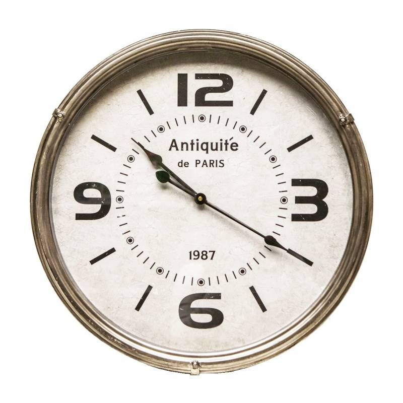 horloge murale style industriel great u vintage wood horloge
