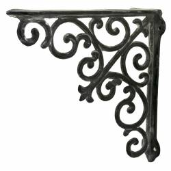Equerre Credence Etagere Potence Murale Suspension en Fonte Grise Support 5,50x26x26cm