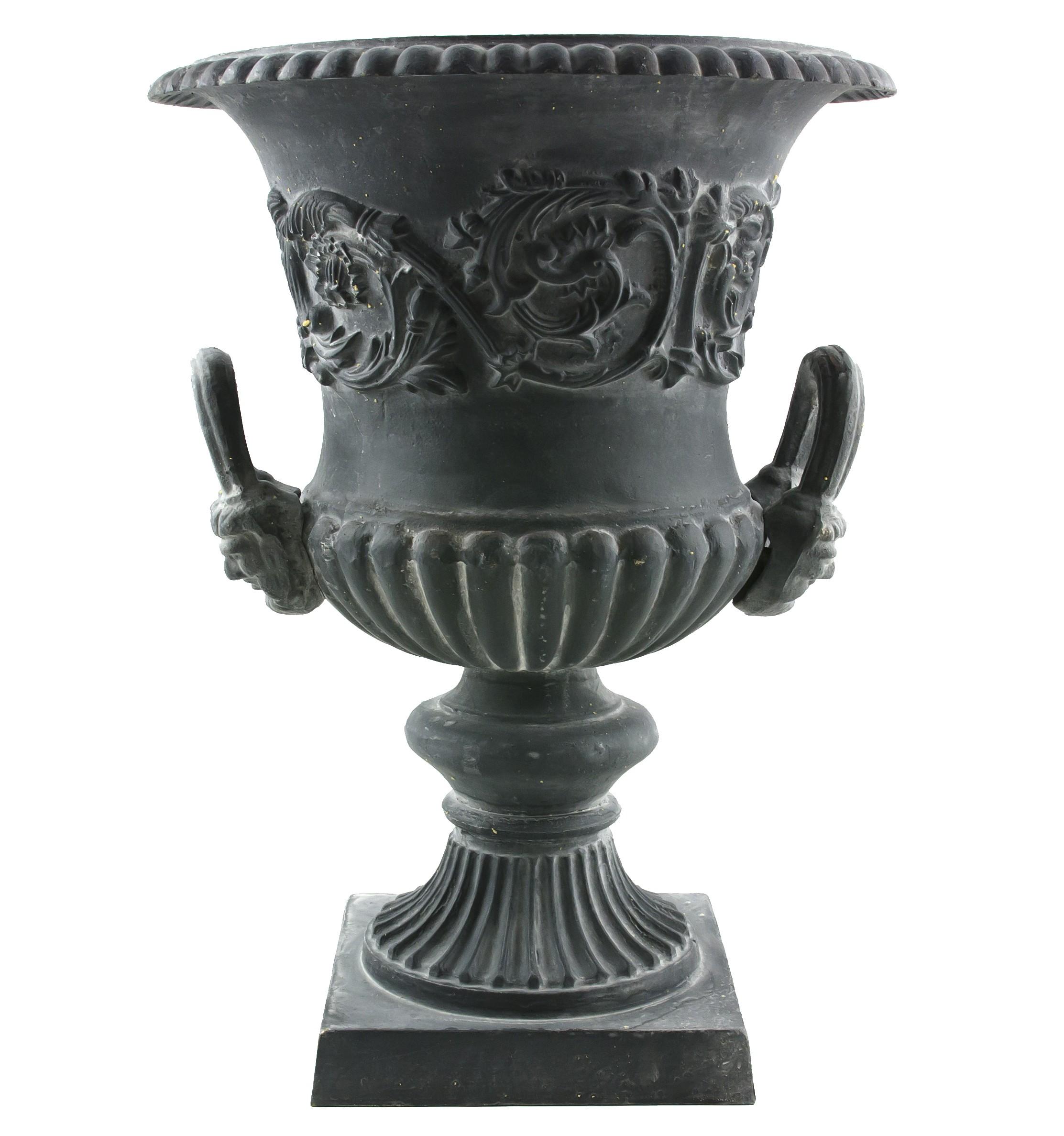 Grande Vasque Vase Jardiniere avec Anses en Fonte Pot de ...