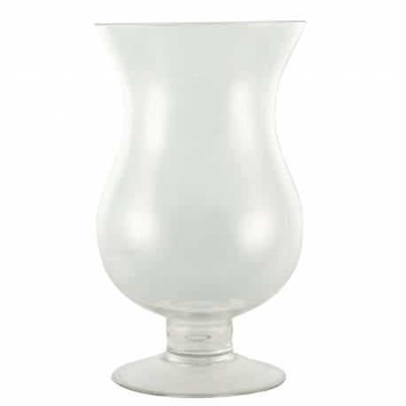 Photophore Bougeoir Porte Bougie Vase Porte Fleurs Plantes en Verre Blanc 17,50x17,50x30,50cm