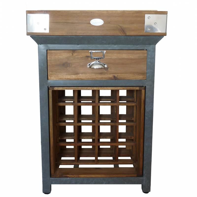 billot de cuisine casier a bouteilles cave vin ilot central de kercoet en acacia massif et. Black Bedroom Furniture Sets. Home Design Ideas