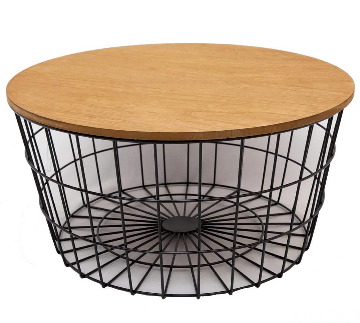 Table basse en fer forg et bois - Bout de canape bois et fer forge ...
