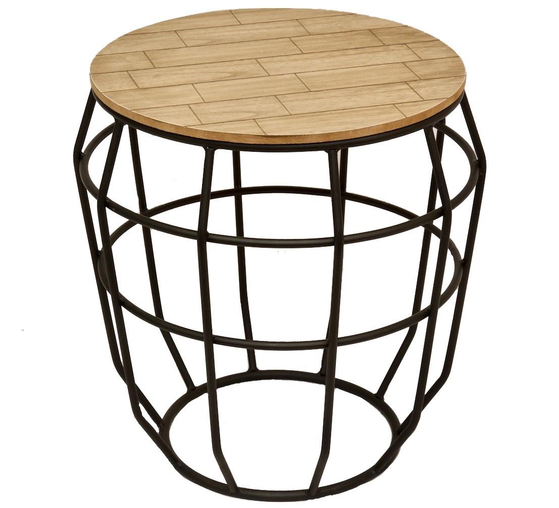 Table de chevet en fer fashion designs - Bout de canape bois et fer forge ...