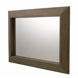 Grand Miroir Rectangulaire Glace Murale Trumeau en Bois 5x67x94,5cm
