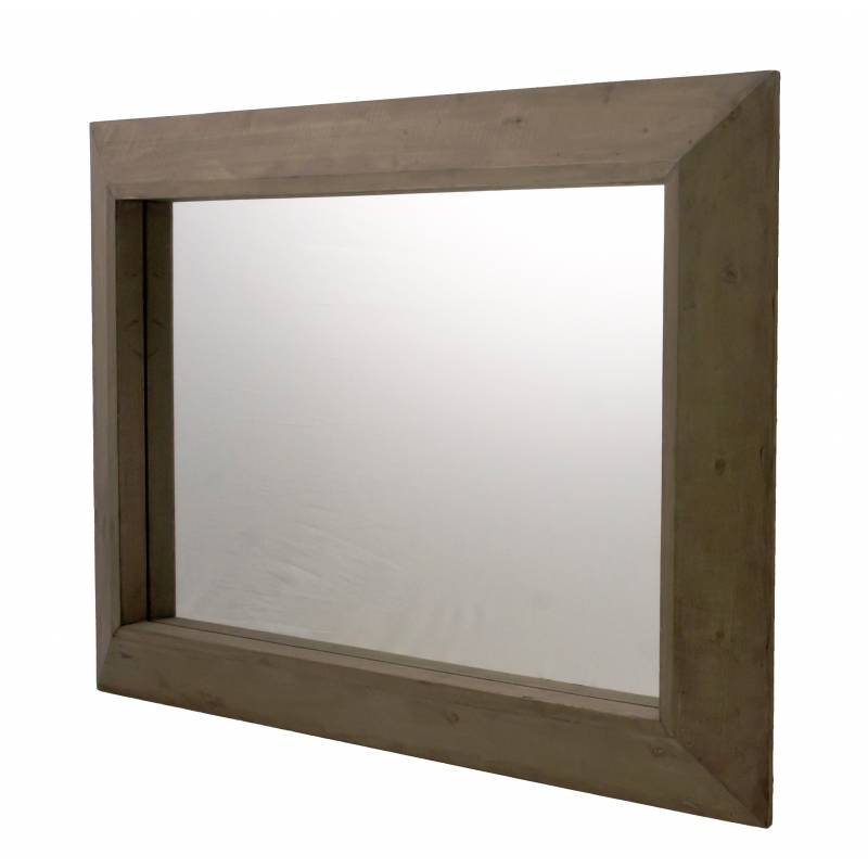 Grand miroir rectangulaire glace murale trumeau de for Miroir glace