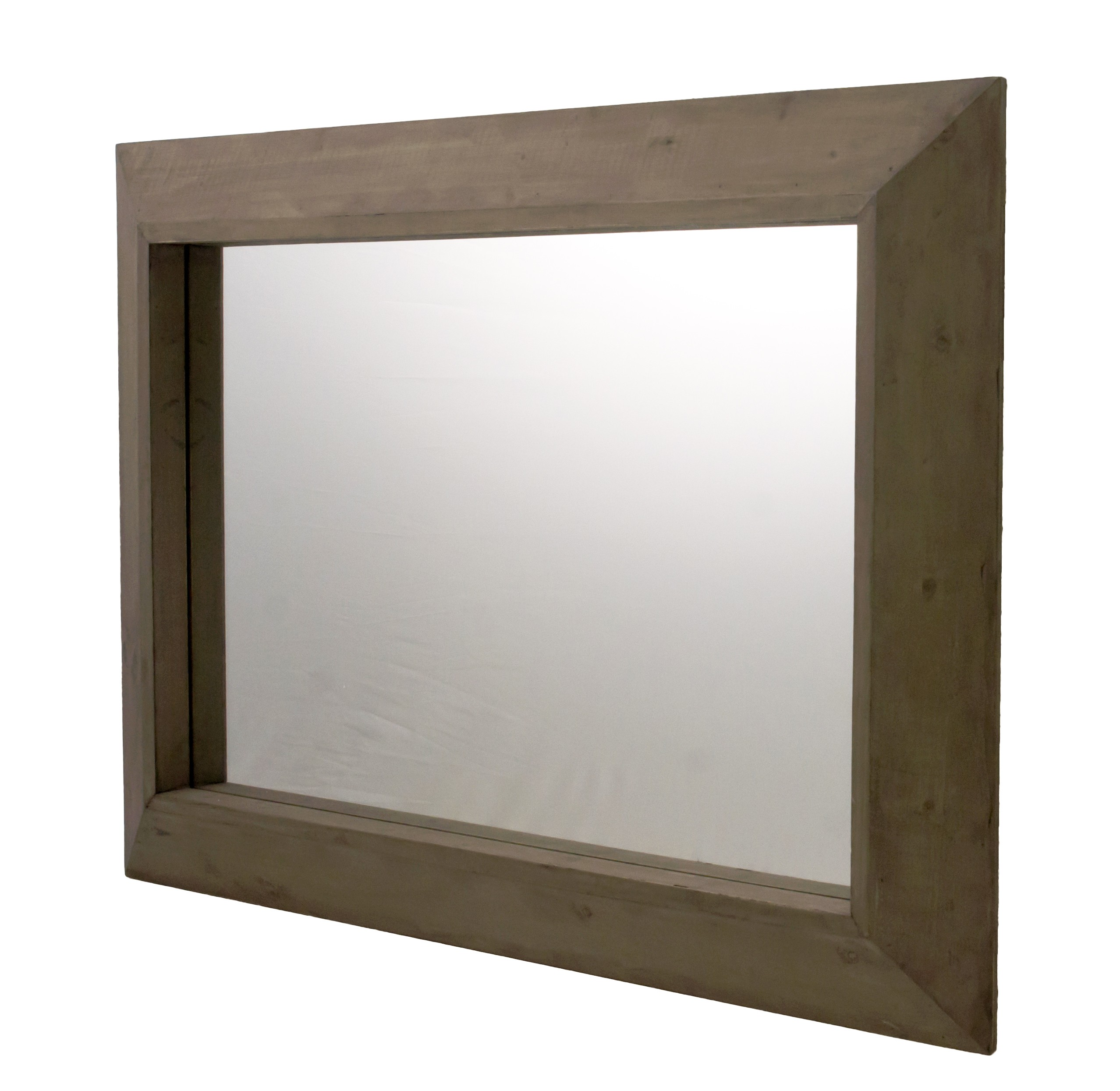 Simple grand miroir glace murale trumeau de chemine en bois xxcm with glace murale pour salon for Glace miroir moderne