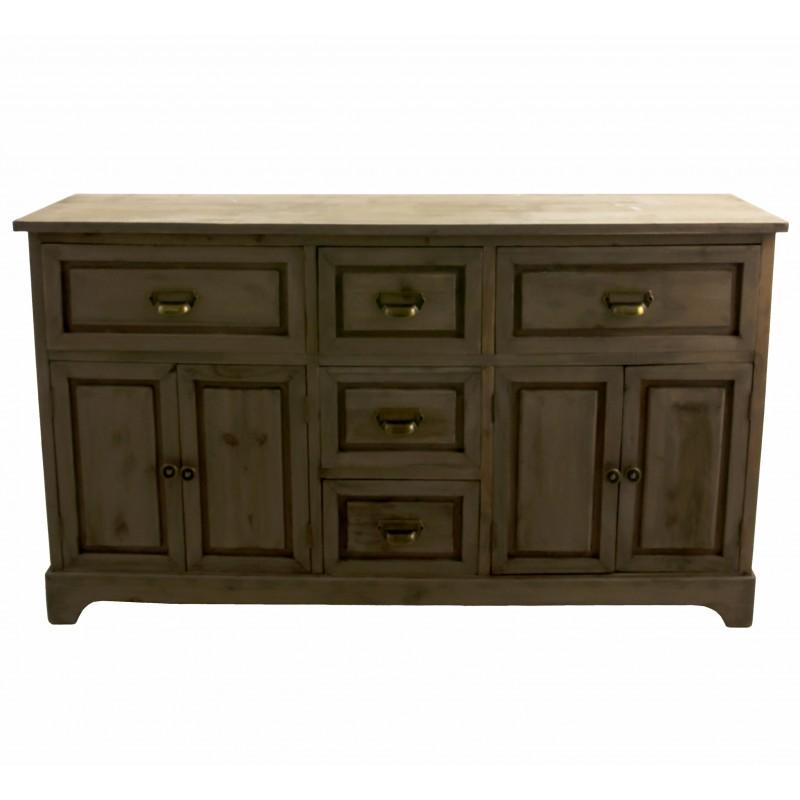 buffet de salle manger meuble de rangement bahut en bois avec porte et tiroirs ebay. Black Bedroom Furniture Sets. Home Design Ideas