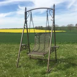 Balancelle de Charme Balançoire pour Adultes et Enfants Mobilier de Jardin en Fer 101x135x200cm