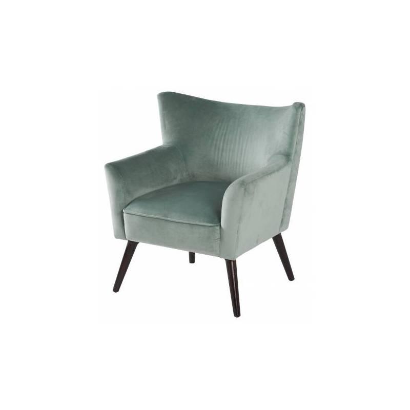 fauteuil wayne marque hanjel si ge de salon vintage en pin. Black Bedroom Furniture Sets. Home Design Ideas