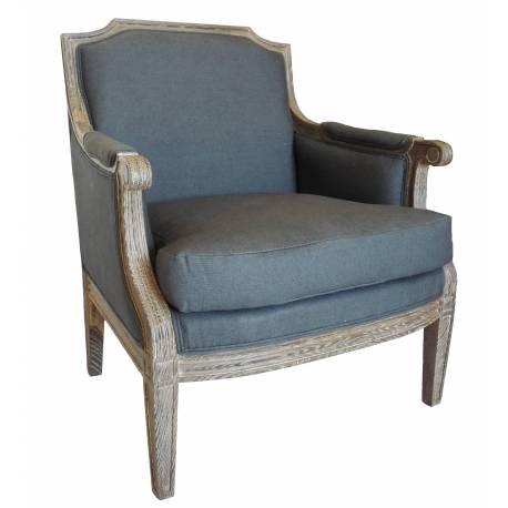 bergere fauteuil siege de salon en chene et tissu lin couleur ardoise 70x90x94cm Résultat Supérieur 50 Meilleur De Fauteuil De Couleur Pic 2017 Jdt4