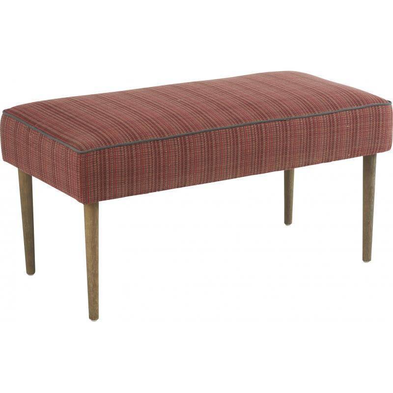 Banc crawford marque hanjel banquette bout de lit en pin ch ne et tissu rouge - Banquette bout de lit ...