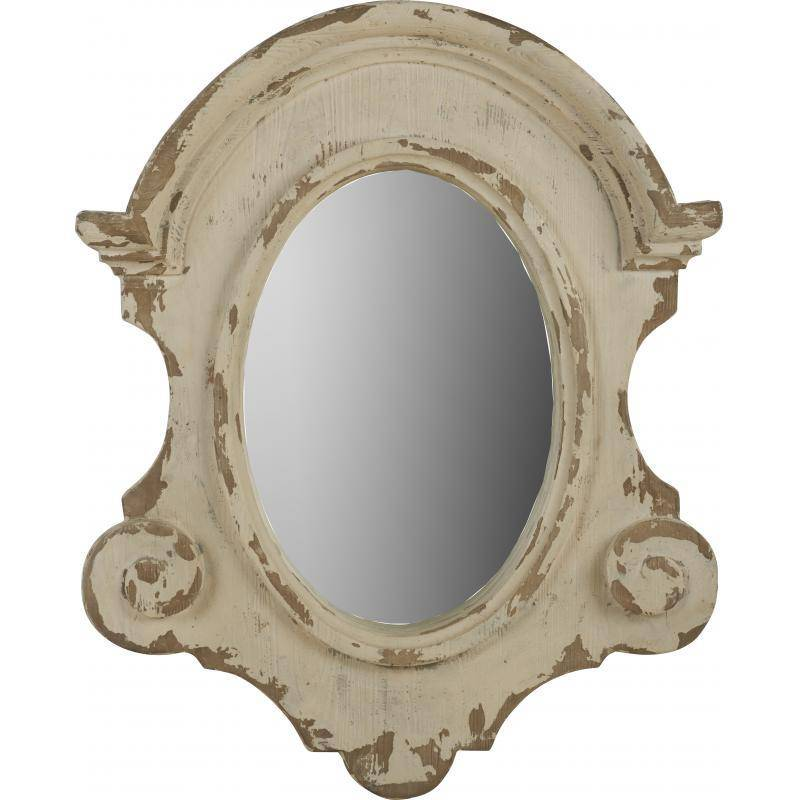 Grand miroir mural r gence marque athezza glace ovale for Grand miroir mural 2m