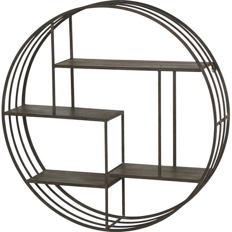 Etag re sph re 7 casiers marque athezza support mural d coratif rond style in - Etagere murale style industriel ...