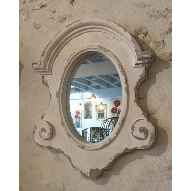 Grand miroir mural r gence marque athezza glace ovale for Grand miroir mural