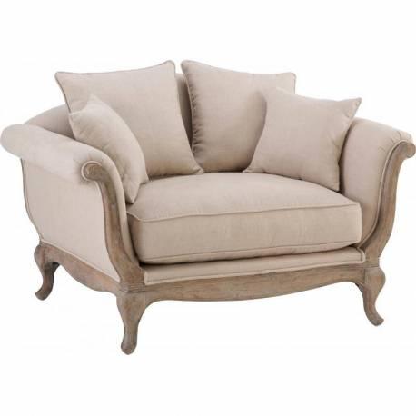 Canap pompadour marque hanjel fauteuil 2 places style for Fauteuil 4 places