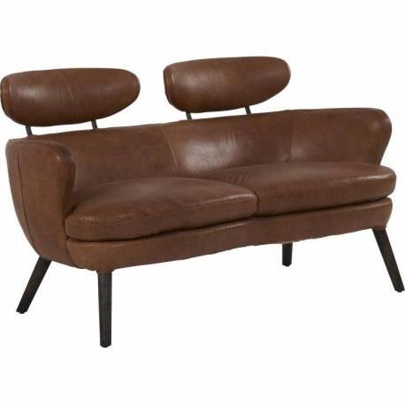 canape havana marque hanjel fauteuil vintage 2 places en hevea bois et cuir marron Résultat Supérieur 50 Superbe Canape Marron 2 Places Stock 2017 Kdj5