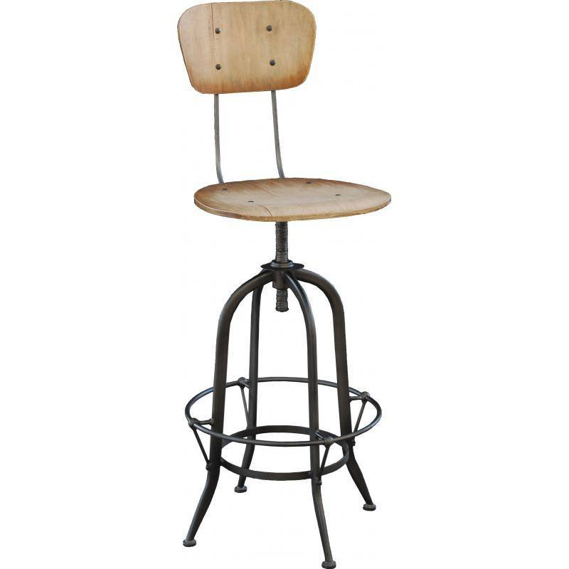 tabouret de bar en bois brut id e int ressante pour la conception de meubles en bois qui inspire. Black Bedroom Furniture Sets. Home Design Ideas