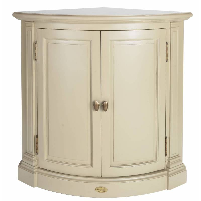 Encoignure de kercoet meuble bas d 39 angle de coin en acacia - Meuble rangement angle ...