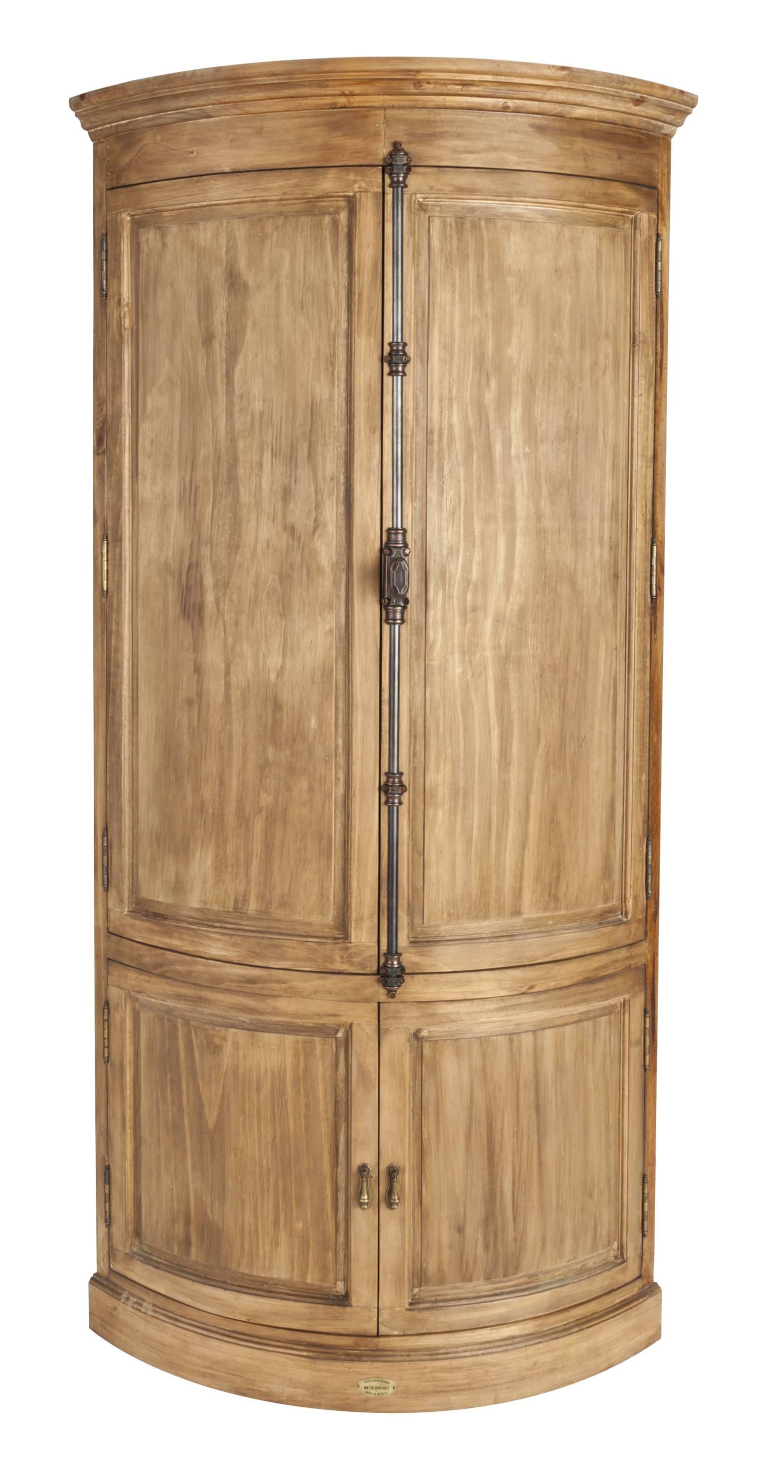 encoignure galbé de kercoet meuble d'angle de coin armoire de