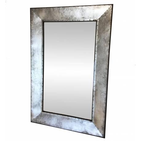 Grand Miroir Rectangulaire Glace Murale Trumeau de Cheminée en Bois 7x58x78cm