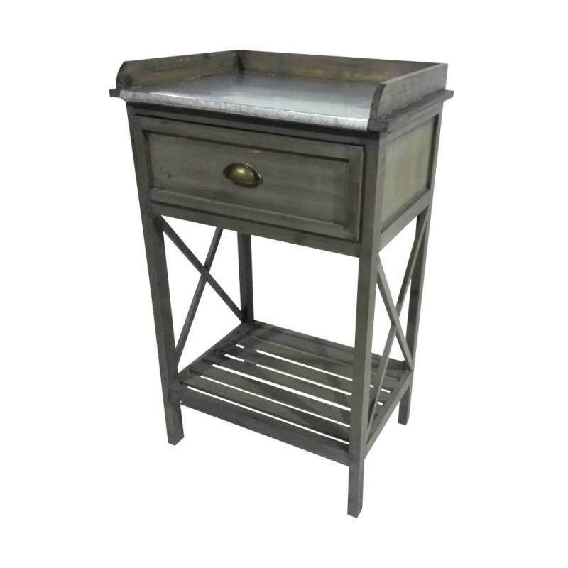 Meuble d 39 appoint console 1 tiroir 1 etag re en pin for Meubles d appoint cuisine