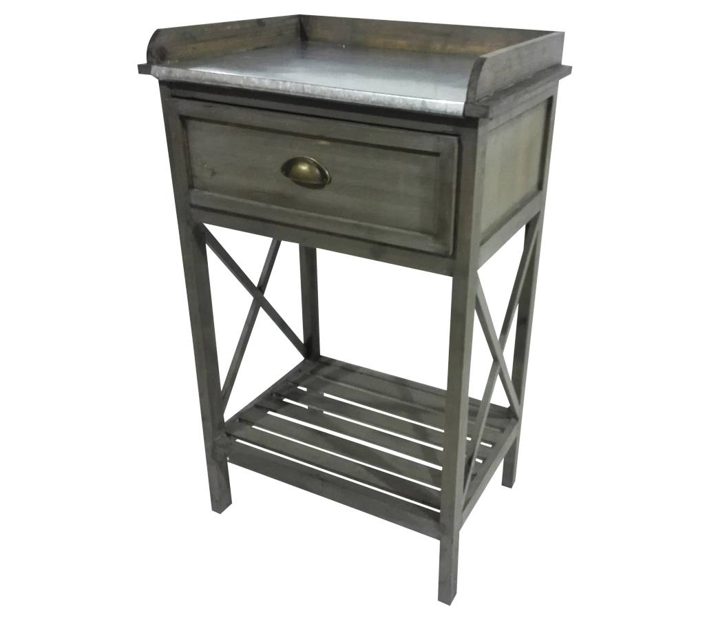 Affordable meuble duappoint console tiroir etagre en pin for Meuble cuisine table escamotable