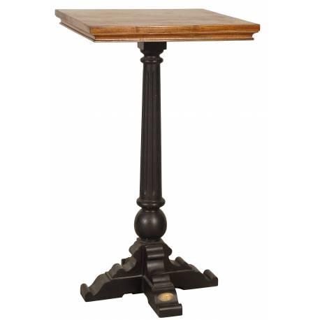 Mange Debout De Kercoet Table Haute d'Appoint Ronde Table de Bar Bistrot Guéridon en Acacia Massif 66x66x109cm
