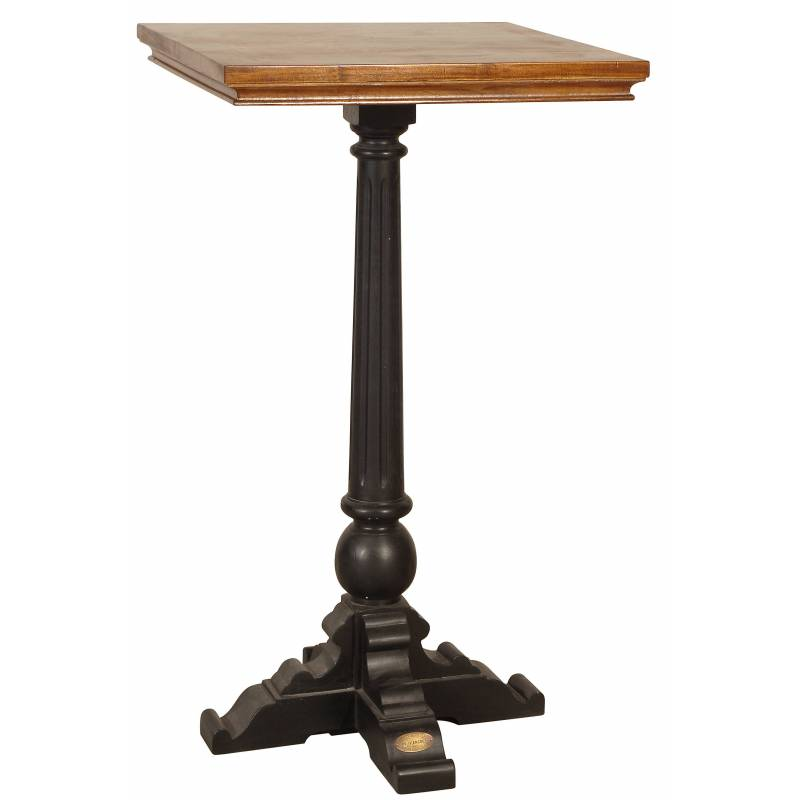 Mange Debout St Germain De Kercoet Table Haute D 39 Appoint Carr E Table De Bar Bistrot En Acacia