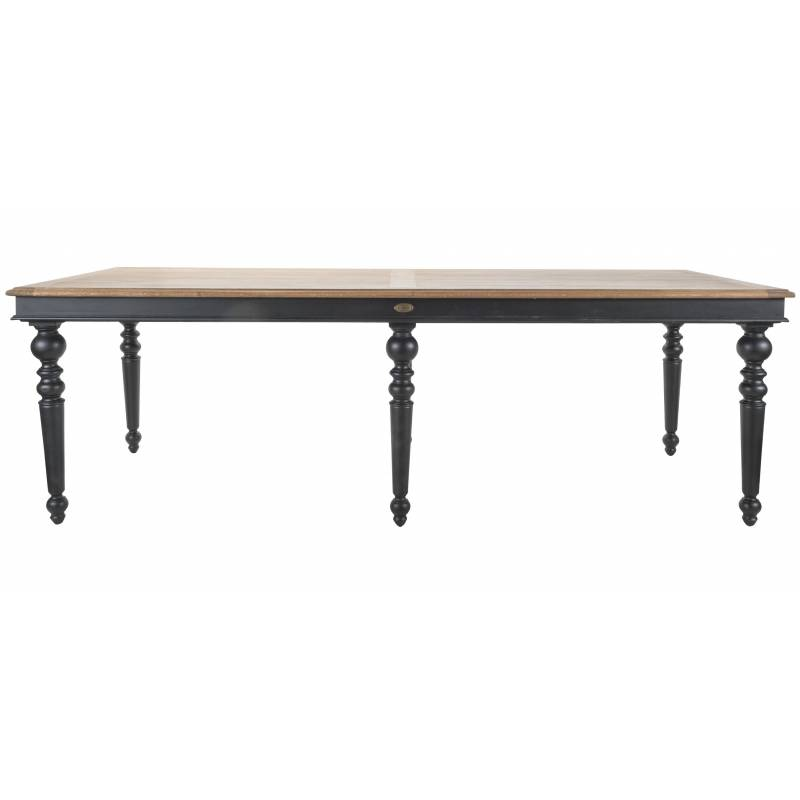 Table en acacia massif maison design for Table salle a manger extensible 16 personnes