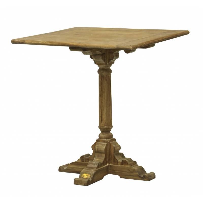 Table de bistrot de kercoet table d 39 appoint cuisine salle manger plateau carr e en acacia - Plateau de table de cuisine ...