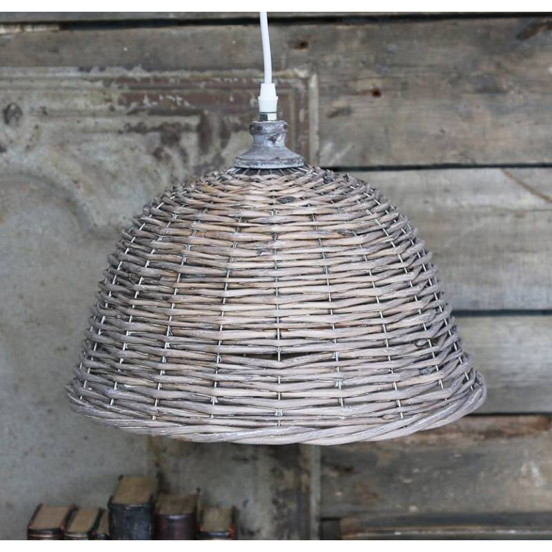 Lustre corbeille luminaire tress suspension lumineuse 1 - Suspension en rotin tresse ...