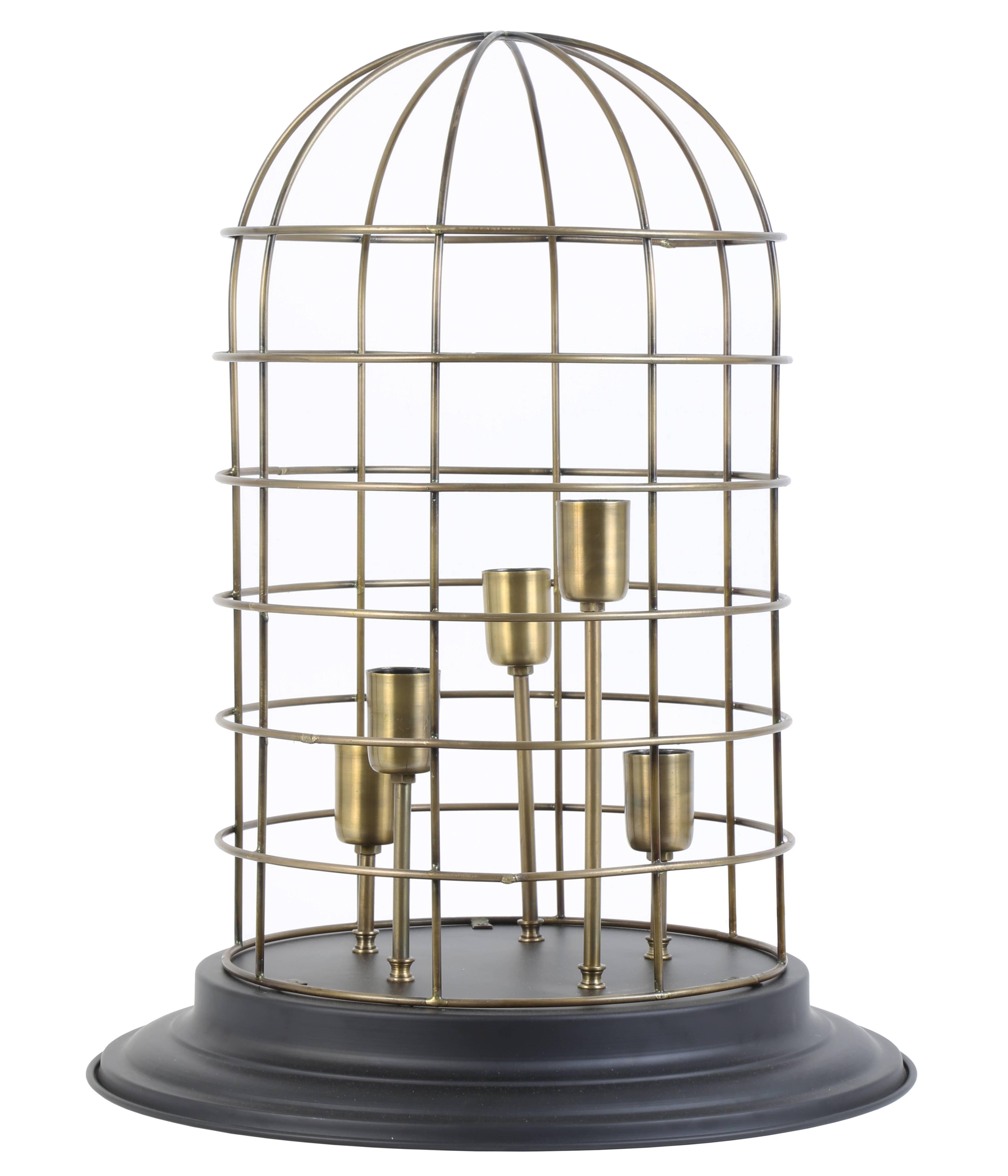 Lampe CHANGI à Poser Luminaire Façon Cage à Oiseau Eclairage 5 ...