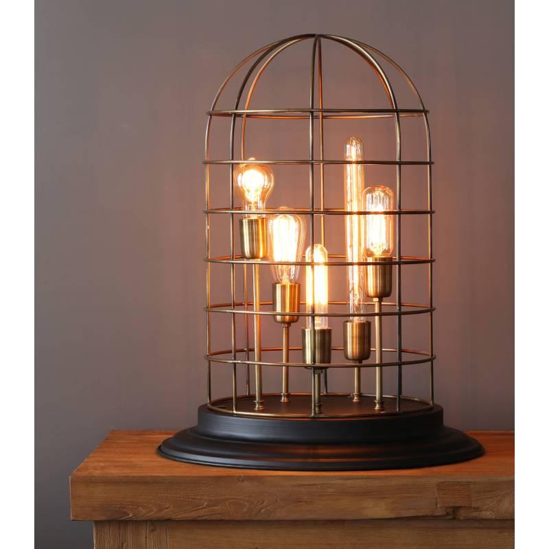lampe changi poser luminaire fa on cage oiseau eclairage 5 ampoules d co electrique en fer. Black Bedroom Furniture Sets. Home Design Ideas