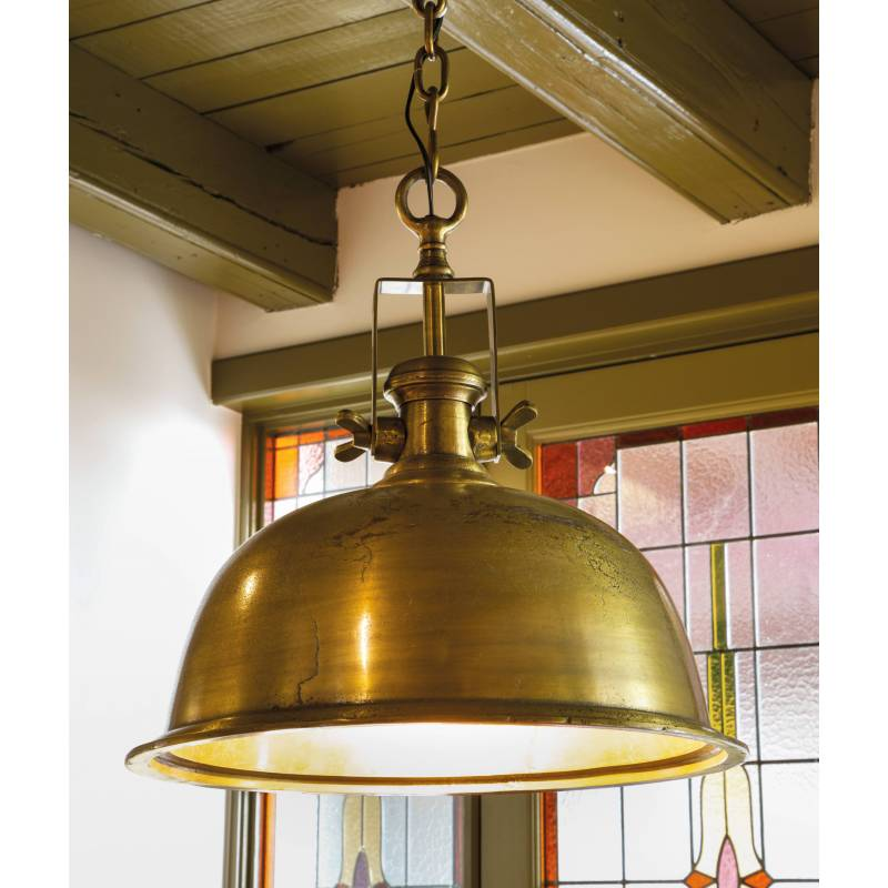 Lustre 1 38x38x48cm Kennedy Plafonnier Suspension Bronze Lumière Lampe Fonte Suspendre En À Ampoule D'aluminium Luminaire 4jR5AL