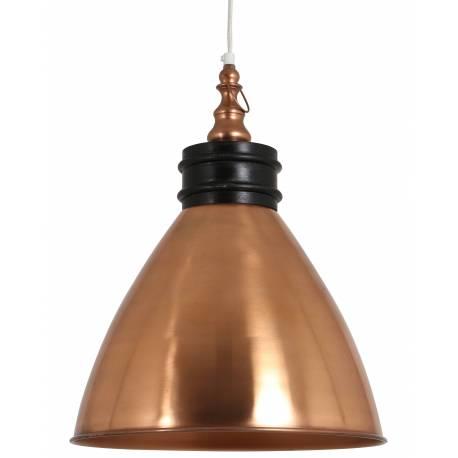 Sublime Suspension Artémis Lustre Plafonnier Lampe à Suspendre Luminaire Electrique 1 Ampoule en Métal Patiné Or Rose 38x38x50cm